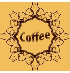 Coffee Break Hipster Vintage Stylized Lettering vector image