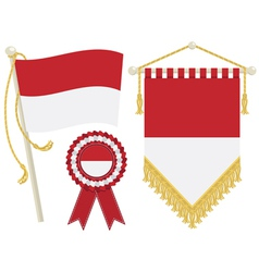 Monaco flags vector