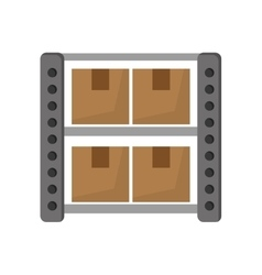 Warehouse goods storage icon vector