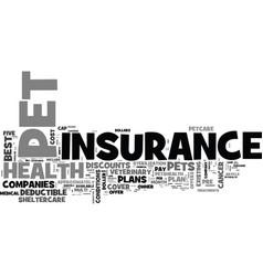A comparison of five pet health insurance plans vector