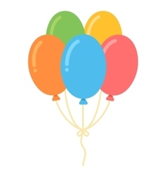 Air balloons bunch vector image vector image