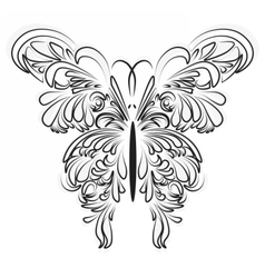 Artistic ornamented butterfly vector