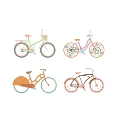 Bicycle for girls with a basket retro design vector image
