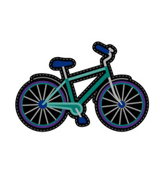 Bike embroidery patch vector
