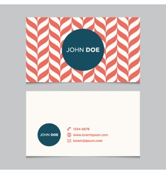business card pattern red 01 vector image vector image
