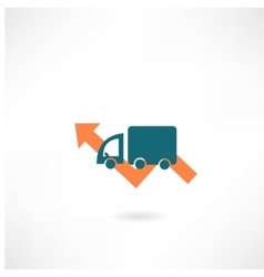 car with the arrow icon vector image vector image