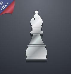 Chess bishop icon symbol 3d style trendy modern vector