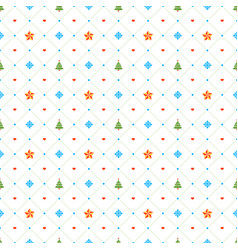 christmas seamless pattern with stars and vector image vector image
