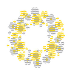 Concept geometry style floral vector
