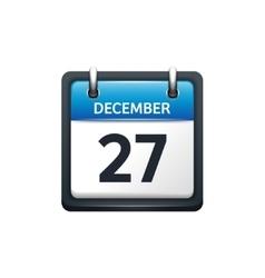 December 27 calendar icon vector
