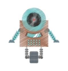 Drawing robot surveillance machine information vector