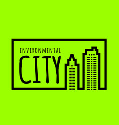 Ecologically clean green city vector