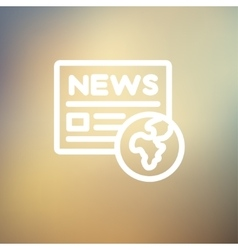 Global news thin line icon vector image