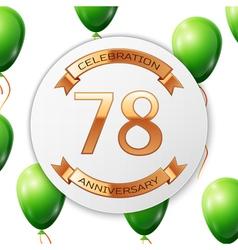 Golden number seventy eight years anniversary vector