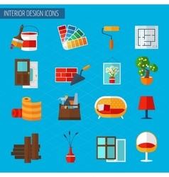 Interior design icons vector