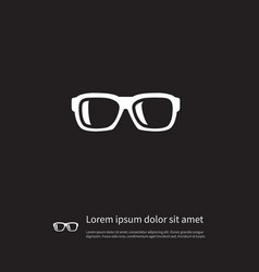 isolated nerd icon specs element can be vector image