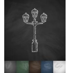 Lamp icon hand drawn vector