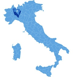 Map of italy pavia vector