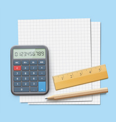 mathematics concept vector image