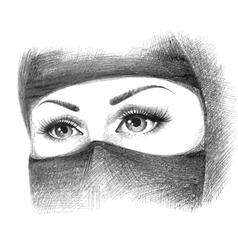 Muslim woman in hijab vector image vector image