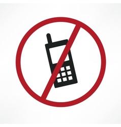 No cellphone sign vector
