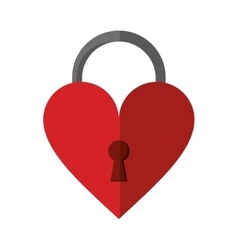 padlock shaped heart loved vector image