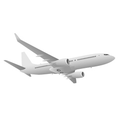 Passenger jet airliner vector