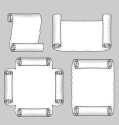 vintage paper scrolls vector image vector image