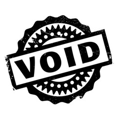 Void rubber stamp vector