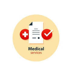 Medical analysis annual check up health insurance vector