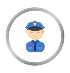 Policeman cartoon icon for web and vector