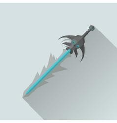 Cartoon game sword with shadow war concept vector