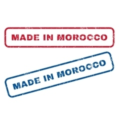 Made in morocco rubber stamps vector