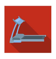 Treadmill running simulator for training in the vector