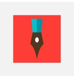 writing pen icon vector image