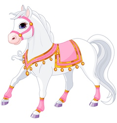Beautiful white royal horse vector