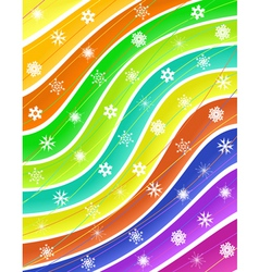 snow stripes vector image