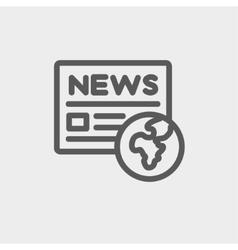Global news thin line icon vector image