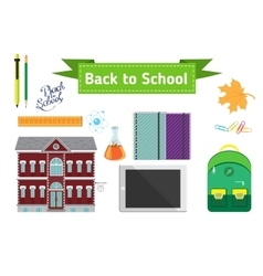 Hand drawn back to school lettering vector