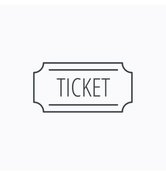 Ticket icon coupon sign vector