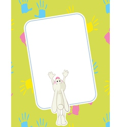 Baby rabbit vector