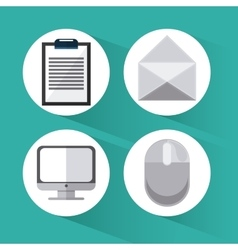Business and office icons design vector
