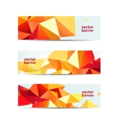 Set of crystal modern faceted geometric vector