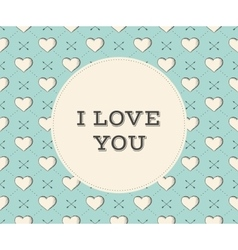 Message i love you in circle on a seamless pattern vector