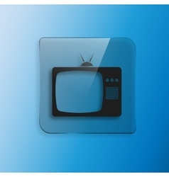 Tv icon flat design style eps 10 vector