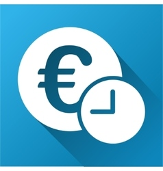 Euro credit gradient square icon vector