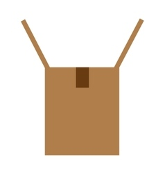 Cardboard box opened icon vector