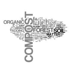 A compost primer text word cloud concept vector
