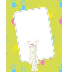 baby rabbit vector image vector image