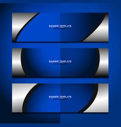 Banner blue background design vector